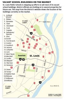 Vacant St. Louis School Buildings Map